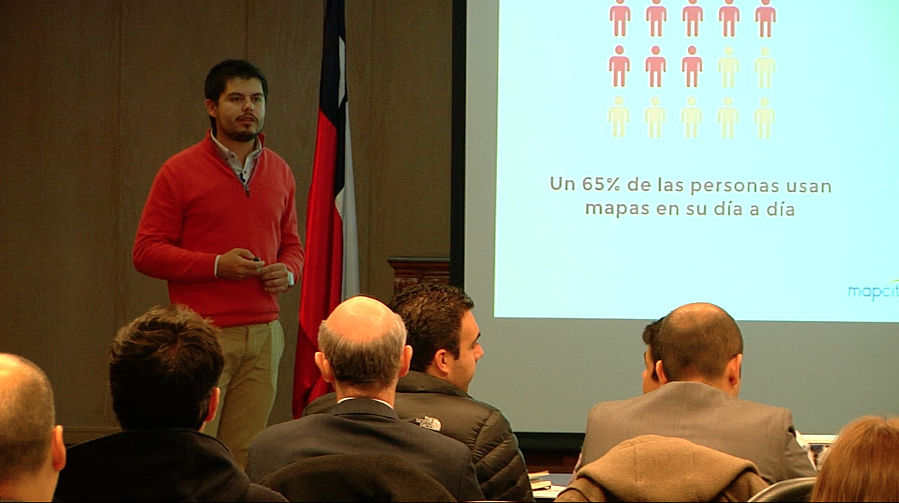 Foto 1. Felipe Catalán de Mapcity speaker en Geoinformación y Geomarketing.